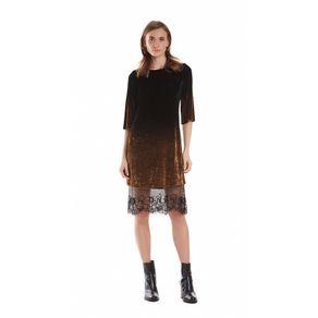 T-SHIRT-DRESS-DE-VELUDO-COM-DETALHE-RENDA---CO-PRETO-DOURADO---P