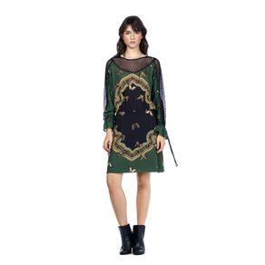 837e04b8d4 Vestido Curto Estampa Danca Das Borboletas Verde - Maria Valentina