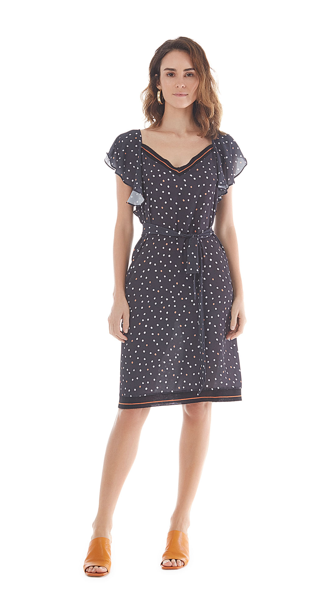 81101ba28e Vestido Curto Decote V Essential Preto - Maria Valentina